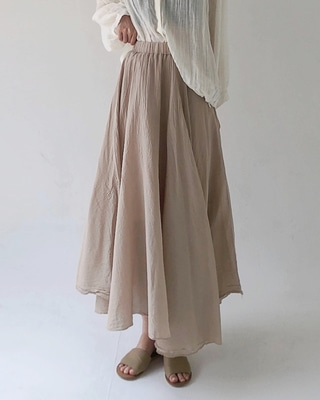 gauze flare skirt (3color)