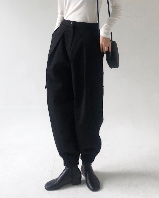 Jogger cotton pants (2color)