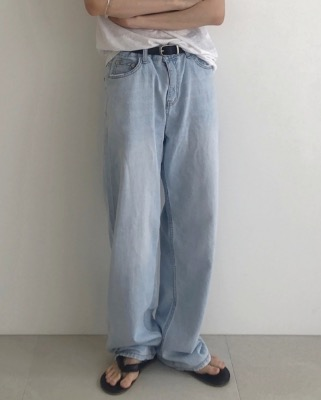 Vintage sky denim pants