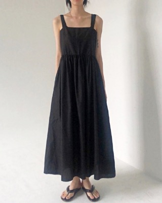 Coco long dress, black