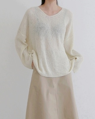 creamy loose fit knit (5color)