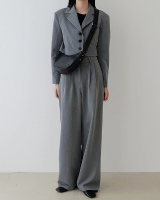 line wide pants (2color)