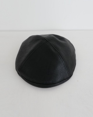 leather beret (2color)