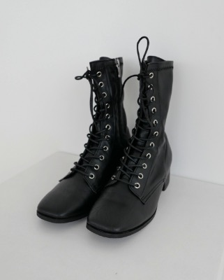 french leather combat boots
