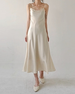 Satin sleveless flare dress