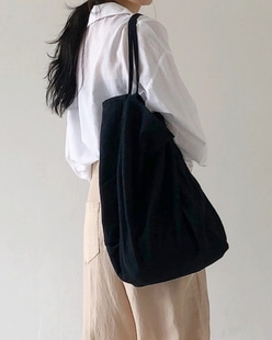 natural shoulder bag, black