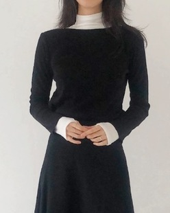 boat neck sleeve knit (2color)