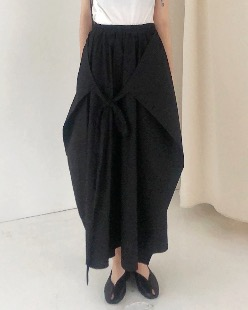 maxi wearable wrap skirt (2color)