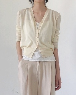 Mood summer knit cardigan (2color)