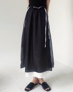 layered string skirt (2color)
