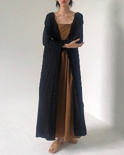 Summer long cardigan, black