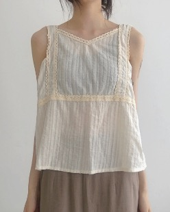 Natural mood sleeveless (2color)