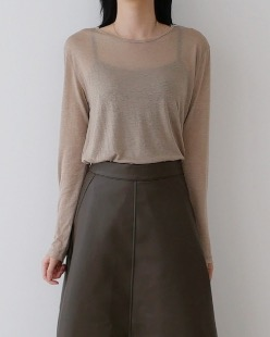 wool tencel tee (3color)