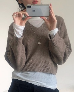 soft wool crop knit (3color)