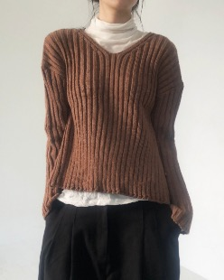 golgie side button knit (4color)