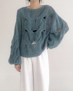 big cable wool knit (2color)