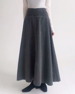 stitch flare skirt (2color)