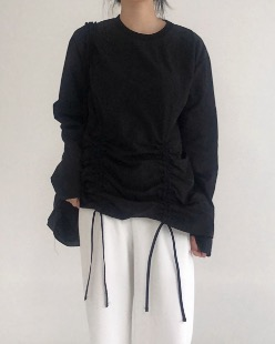 shirring sweat shirt (3color)