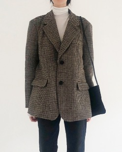 hound check wool jacket