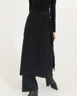 skirt layerd pants