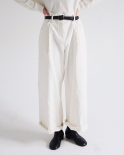 belt set corduroy pants (2color)