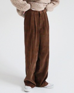 wide long corduroy pants (2color)
