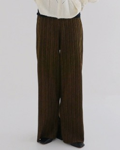 pleats slit pants (2color)