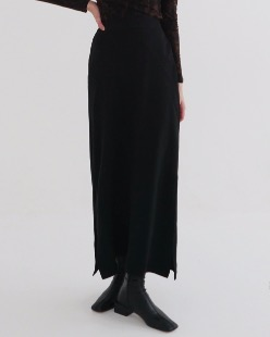 two slit maxi skirt (2color)