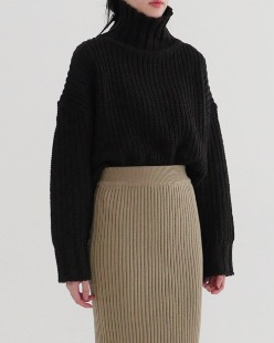 bagle polo neck knit (3color)