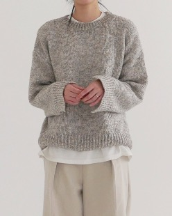bokash slit knit (2color)