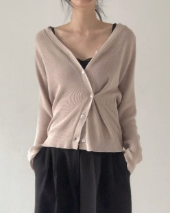 unbalance cardigan (2color)