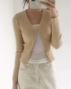 retro mini cardigan (2color)