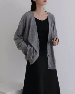 wool knit cardigan (4color)