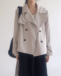 half double trench jacket (3color)
