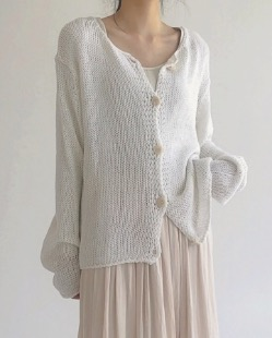 net light knit cardigan (4color)