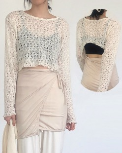 punching backless knit (2color)