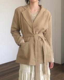 linen strap jacket (3color)