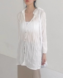 wrinkle clean blouse (2color)