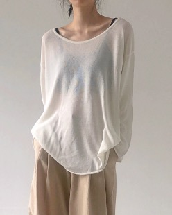 round neck summer knit (3color)