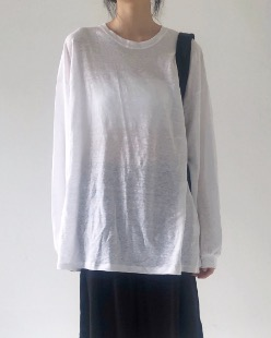 boxy linen tee (3color)