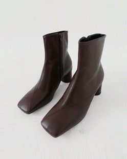 diagonal ankle boots (3color)