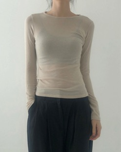 simple wool tencel tee (3color)