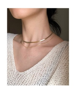 layered simple necklace (2color)