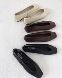 slim daily flat shoes (3color)