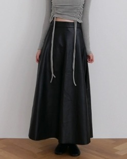 mood leather long skirt (2color)