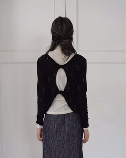 damage backless knit (2color)