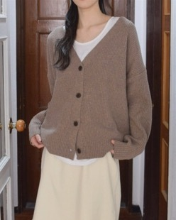 mono wool cardigan (5color)