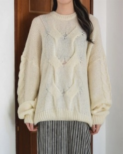 over silhouette knit (2color)