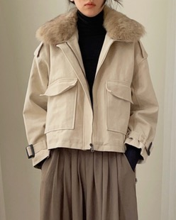 soft fox fur wool jacket (2color)