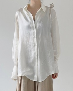 satin loose fit shirt (2color)